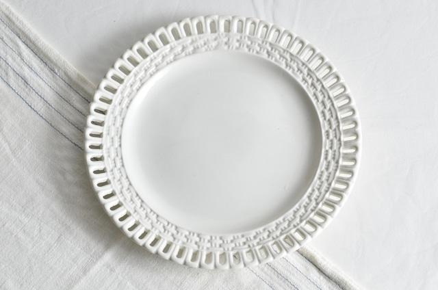 20世紀初期 陶器製 デザート皿 パニエ