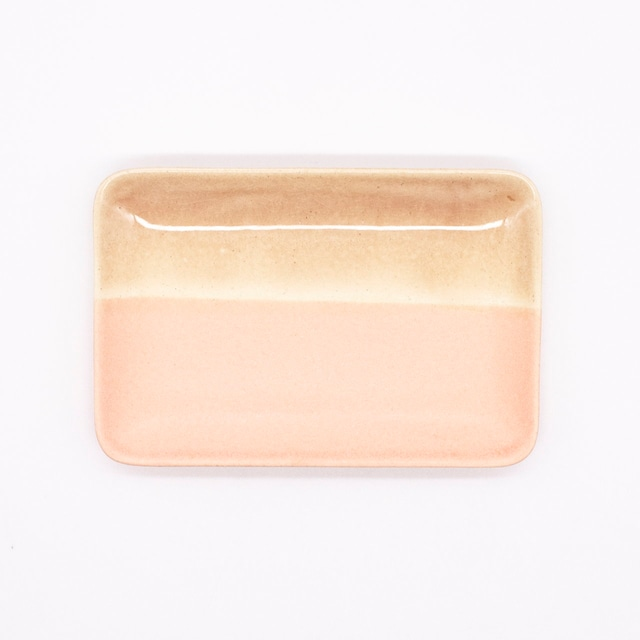 【限定1点 アウトレット品】美濃焼 長角小皿 color ピンク 254124 豆豆市160