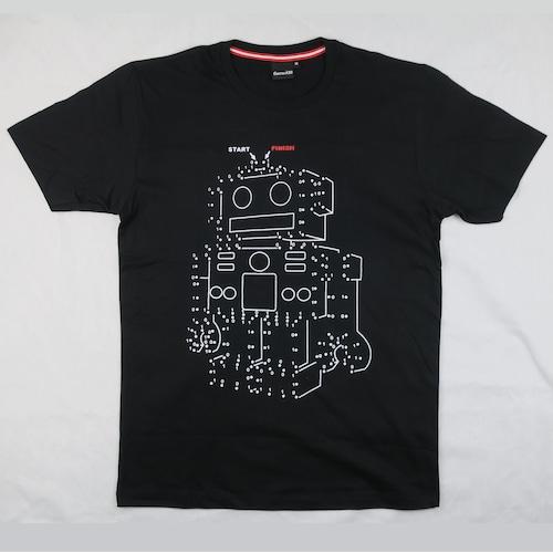 点をつなぐとロボットが出現!「2進数ロボット」Tシャツ