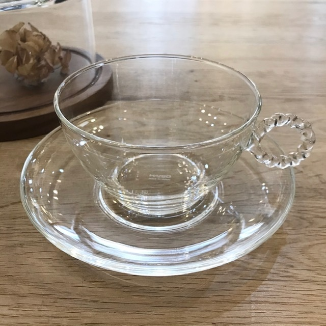 HARIO Lampwork Factory カップ&ソーサー ネジリ R ガラス