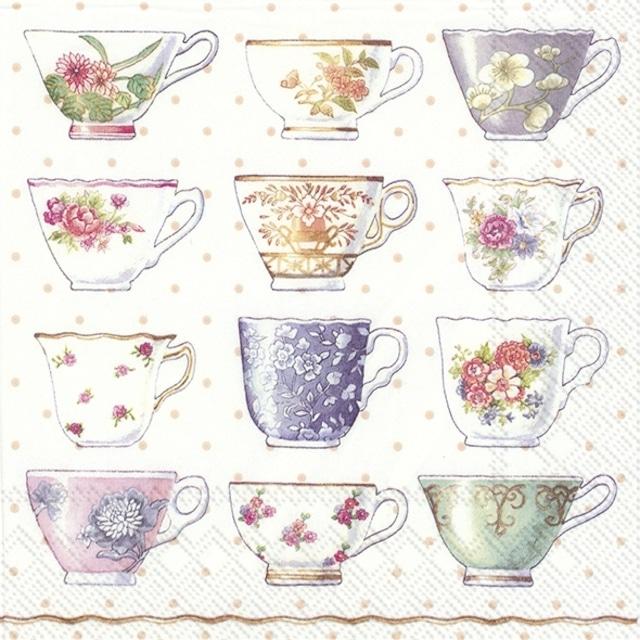 【IHR】バラ売り2枚 ランチサイズ ペーパーナプキン CLASSIC CUPS ホワイト