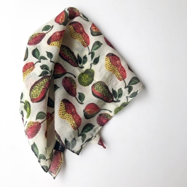 "Nathalie Lete  handkerchief ""pear"" ナタリーレテ  ハンカチ"