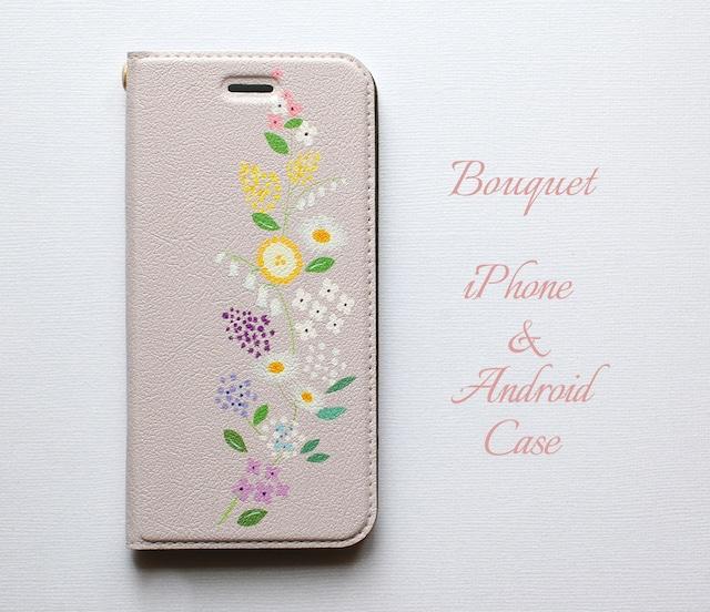 ブーケ iPhone/Android ケース【受注制作】手帳 アイフォンケース スマホケース