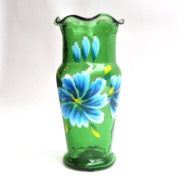 EREACHE PUEBLA GLASS エレアチェ 花瓶 メキシコ プエブラ 花ペイント