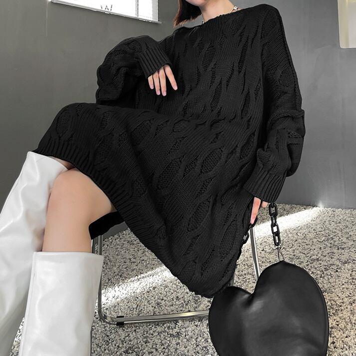 薄手の網模様セーター   1-501