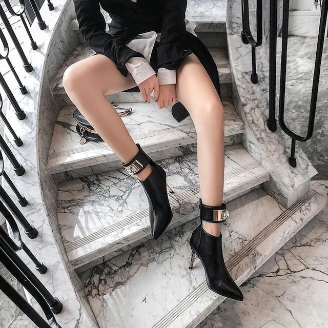【即納】ankle belt boots