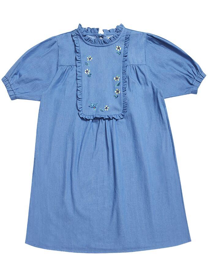 【Nathalie Lete】DENIM DRESS BLUE BIRD