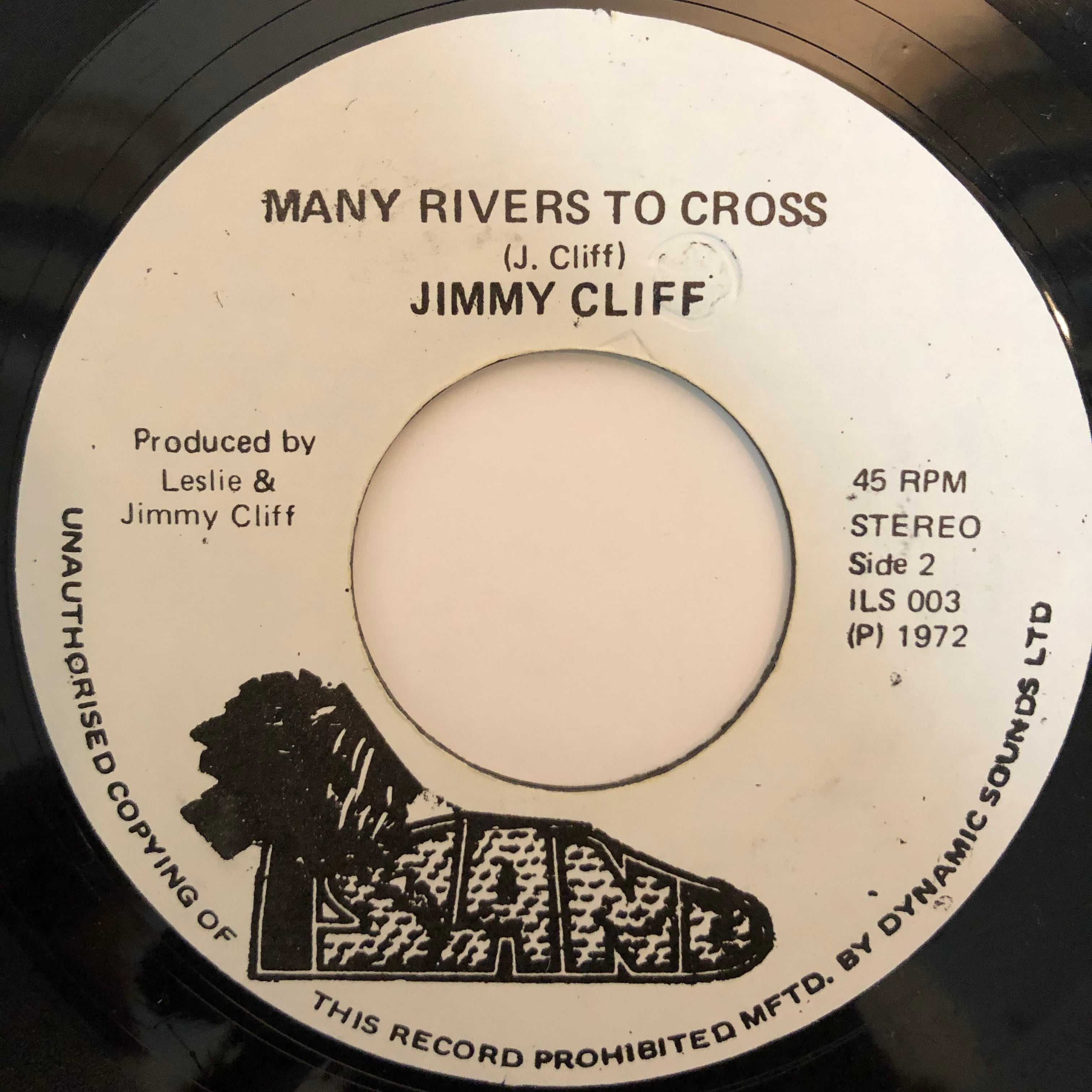 Jimmy Cliff(ジミークリフ) - Many Rivers To Cross【7-20297】