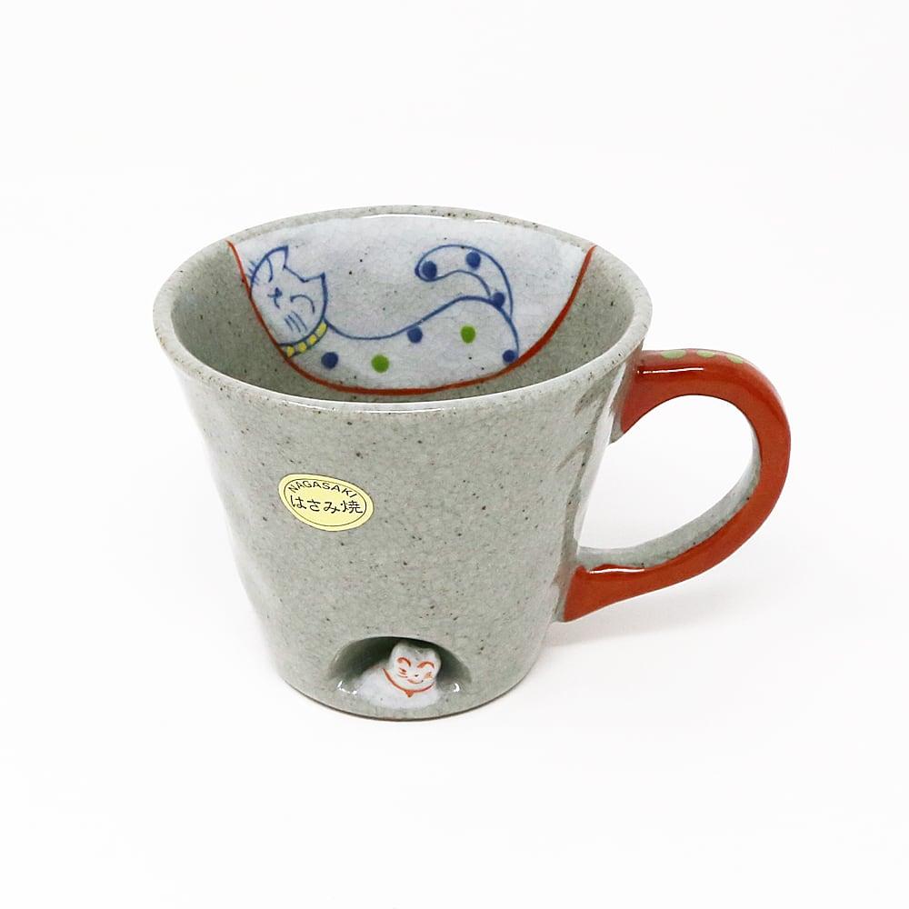 猫マグカップ(猫人形)