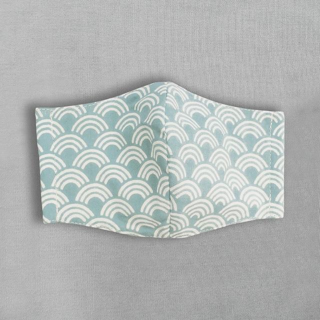 デザイナーズ マスク|青海波|浅葱系水色