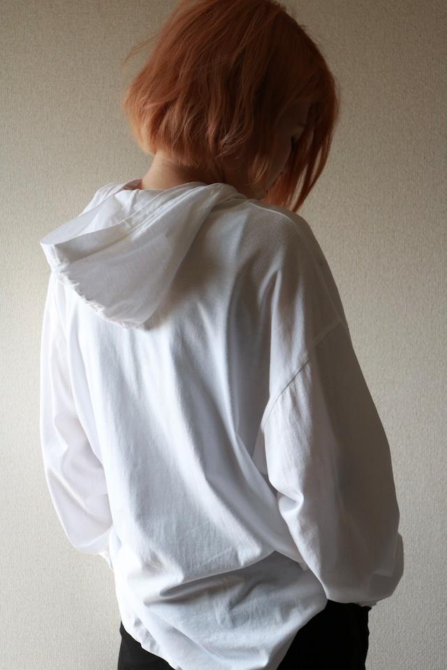 Vintage hooded long sleeve shirt