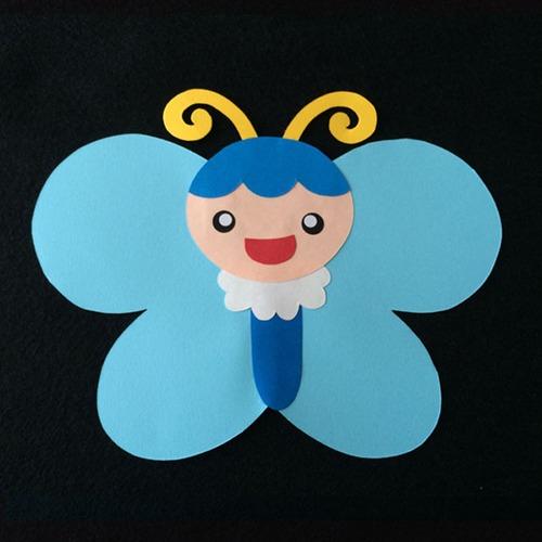 ちょうちょ(青)の壁面装飾