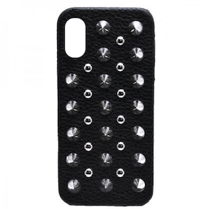enchanted.LA ROUND & SPIKE STUDDED LEATHER COVER CASE #TRAPPER