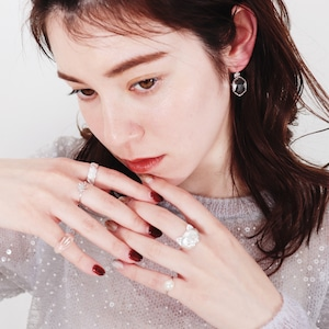 SET RINGS    【通常商品】 DAISY CLEAR RING 5 SET A    5 RINGS    SILVER×CLEAR    FBC004