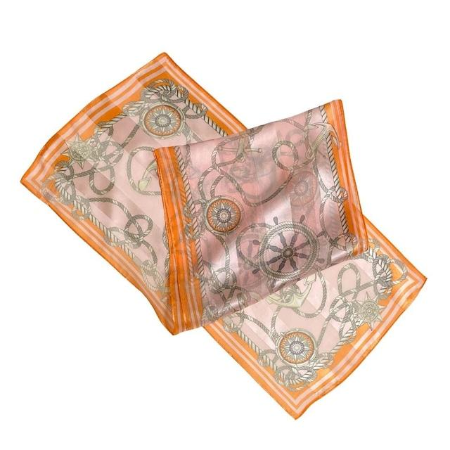 【低価格】シルク100%|日本製|横浜スカーフ 手捺染 ロマンチック&カジュアルな雰囲気♪【sp050】