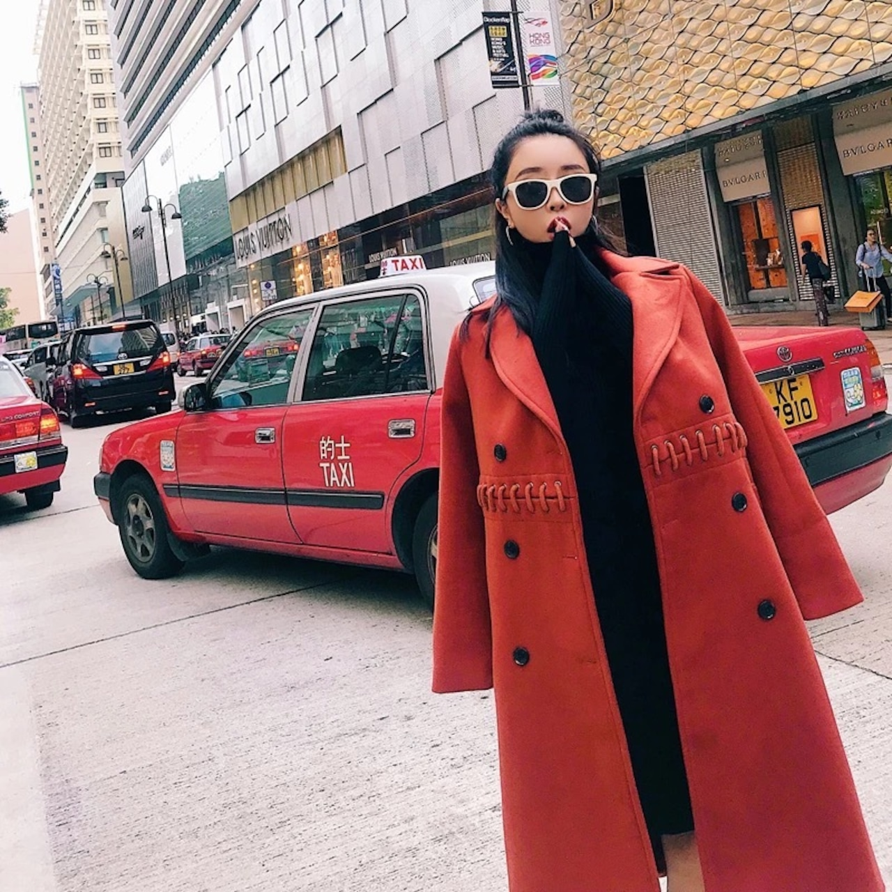 【即納】design over long coat