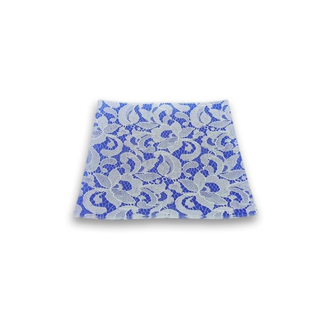 ガラストレー #82422 ブルー (15cm 角皿)