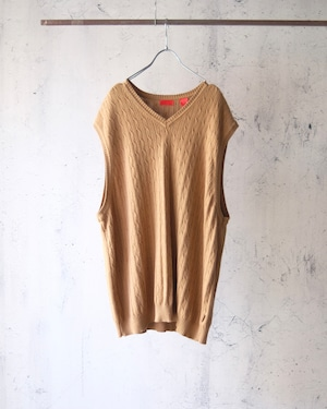 cotton no sleeve knit