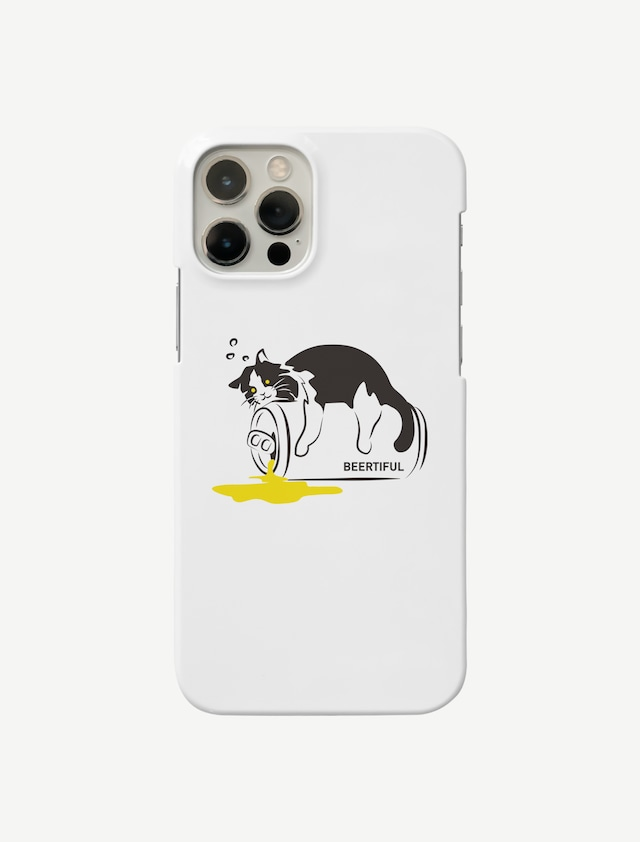 【ほろ酔いにゃんこ】iphoneケース(スマホケース)