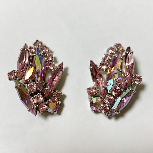Vintage Sherman Pink Bijoux Earrings