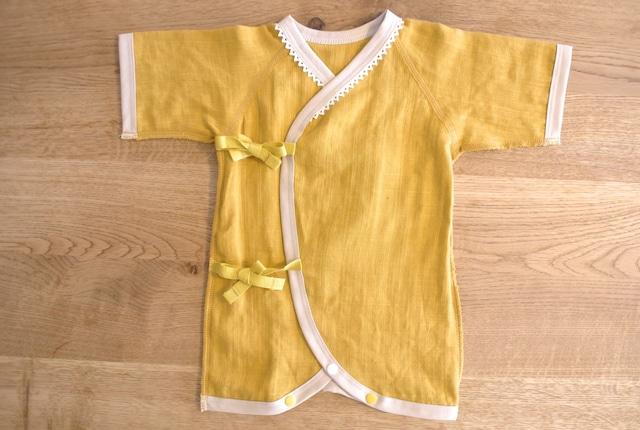 低出生体重児(未熟児)コンビ肌着 40~50サイズ   イエロー