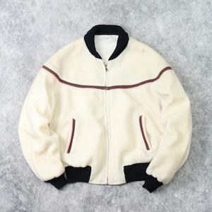 1960s   Vintage   Fleece Jacket    Reversible   M~L   White b242