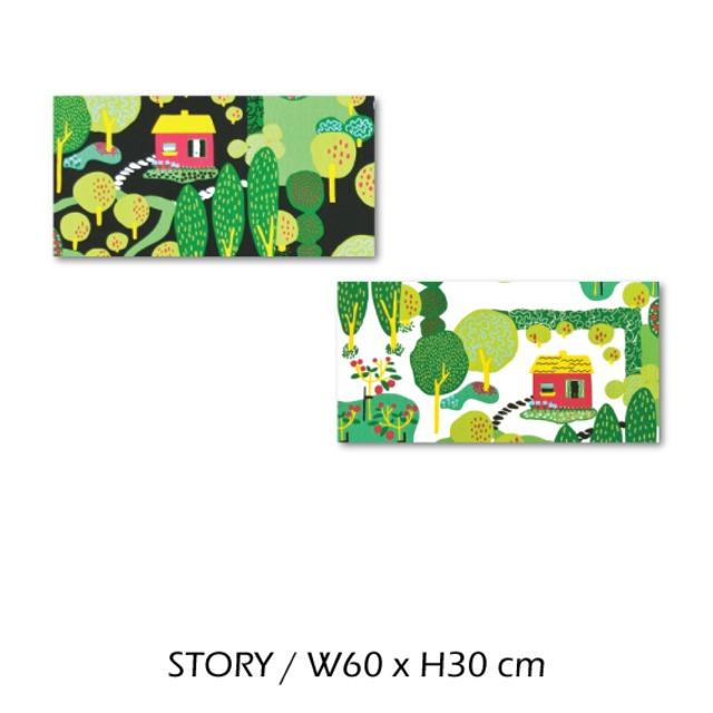 北欧生地 ファブリックパネル 横60 cm x 縦30 cm Kinnamark STORY 受注販売商品 (100923)