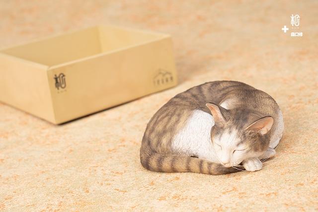 「森口修の猫」ー寝姿(キジ猫塗装)|森口修|