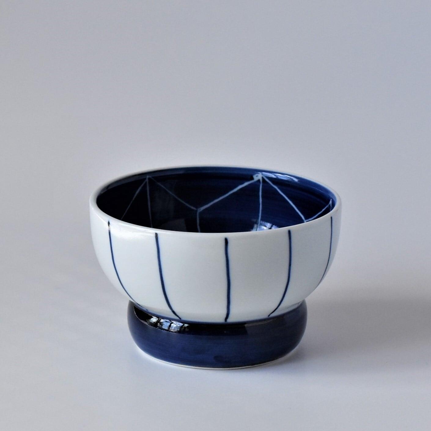 有田焼【まどか】 ロータイプ(水用) 麻の葉  製造:江口製陶所