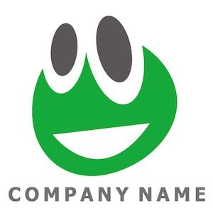カエルイメージ ロゴデザイン
