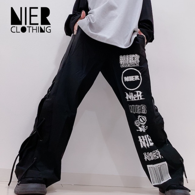 8LOGO BLACK PANTS【SIDE BRAID】