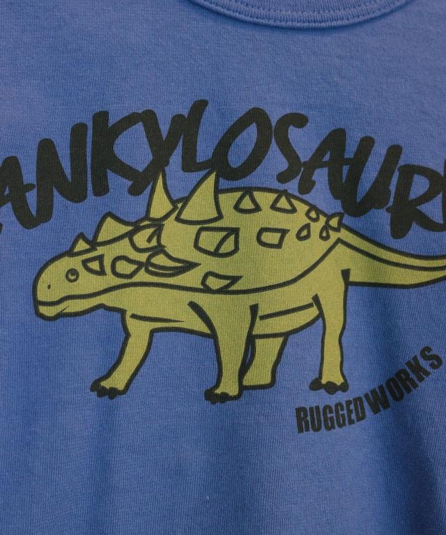恐竜プリントロングTシャツ(日本製)