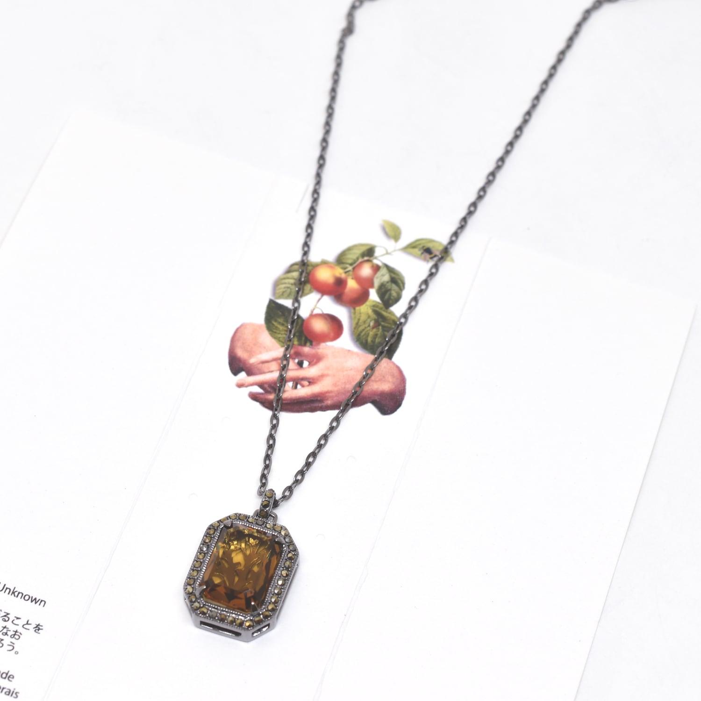 Packaged collection  Cognac Quartz pendant