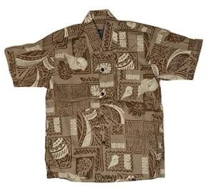 Aloha Shirt Brown【Kids】