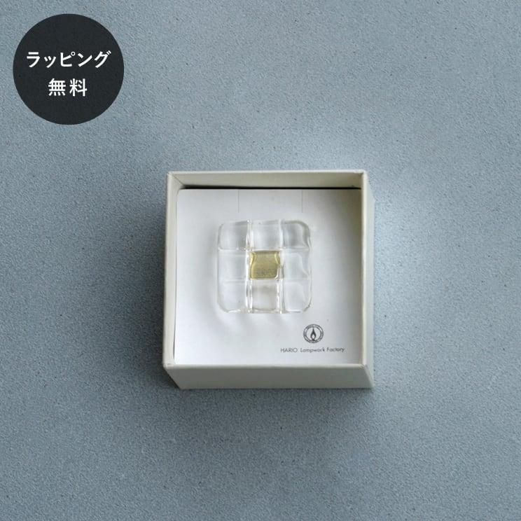 ハリオ HARIO ブローチ スクエア aa-0149