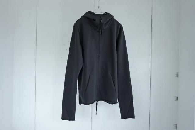 thom krom  / Heavy jersey zipup hoodie / BLK