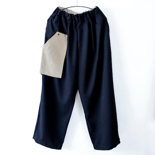 《michirico 2021AW》Three pocket pants / black / S・M(大人)