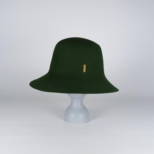 AW21-BD-5 Rabbit Felt Roller Hat - MGR/MAG