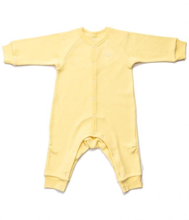 【ベビー服】前開きカバオール / レモンイエロー / 70サイズ