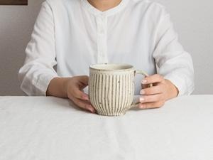 粉引 鎬 マグカップ(大)A/くるり窯