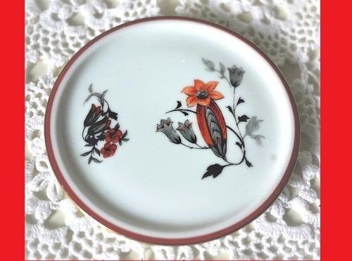 ARABIA アラビア 赤い花の小皿 フィンランド