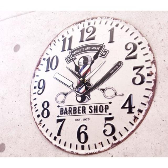 【掛時計】アンティークエンボスクロック BARBAR SHOP