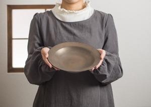 パスタ皿 マンガン釉(リムプレート・深皿・浅鉢)/鈴木美佳子