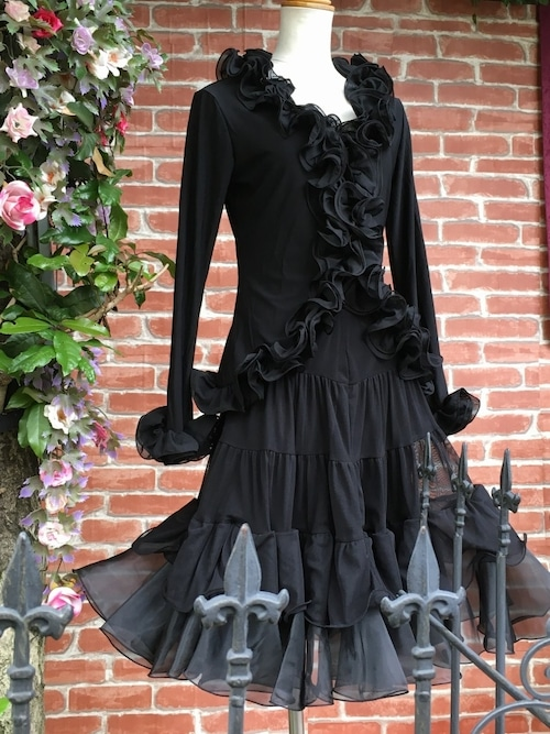 フリルボレロ カールフリルのゴシック魔女ボレロ 黒
