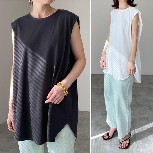 ◆即納◆フレンチスリーブ ラウンドヘム チュニック Tシャツ OP-t128