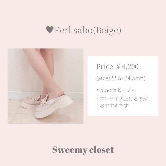 【ラスト1点送料無料】【即納】Perl sabo(Beige)