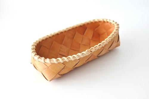 SUKOYA Näverslöjd Basket long  /  白樺の樹皮のバスケット ロング