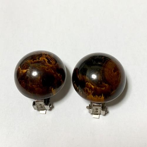 Vintage Brown Marble Bakelite Earrings