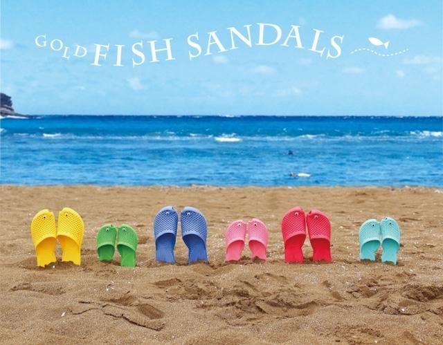 早く海に行きたい!金魚サンダル (フリーサイズ)