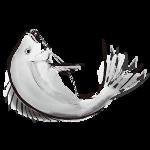 水墨画風の鯛